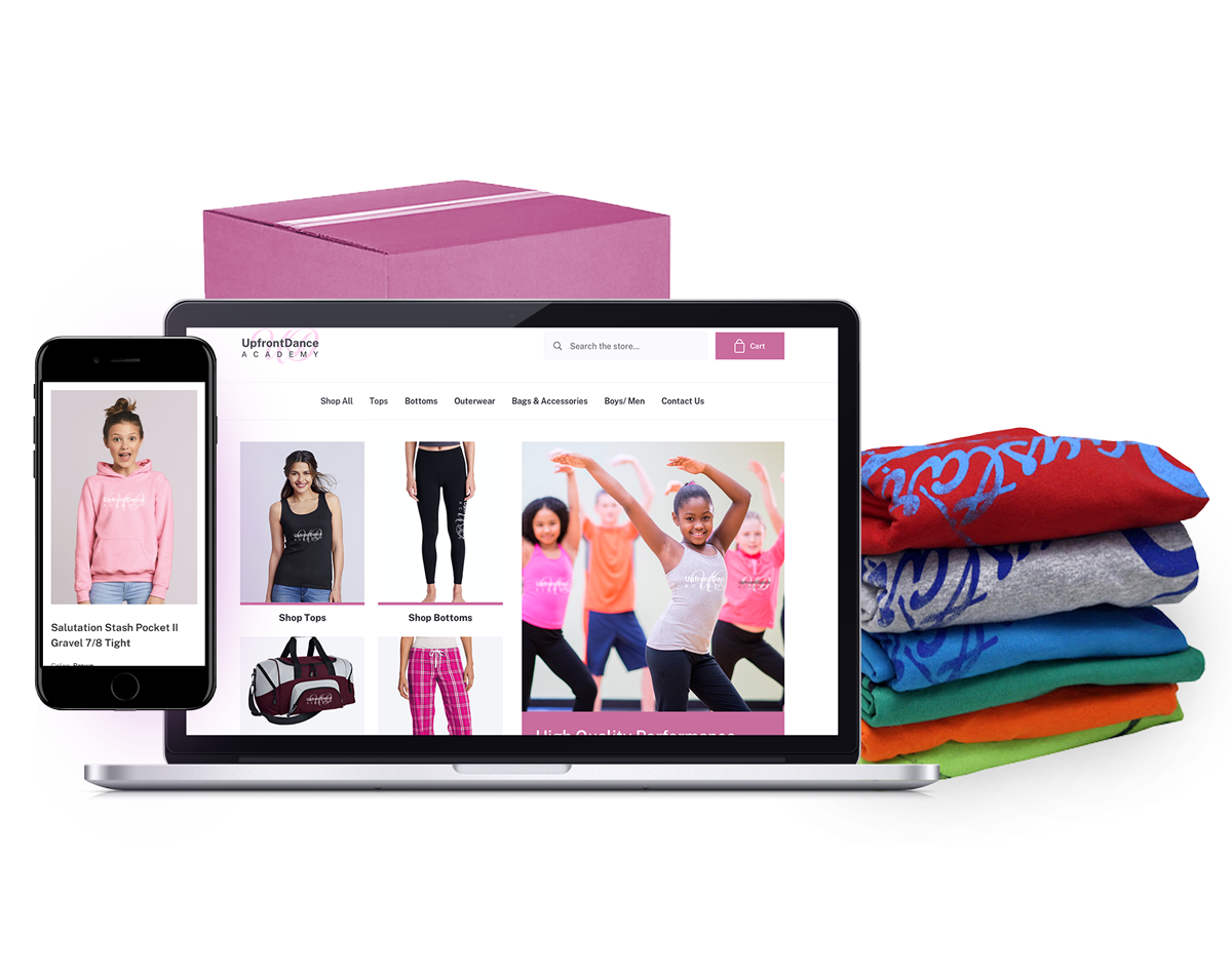 Image of Dance Team story website and apparel